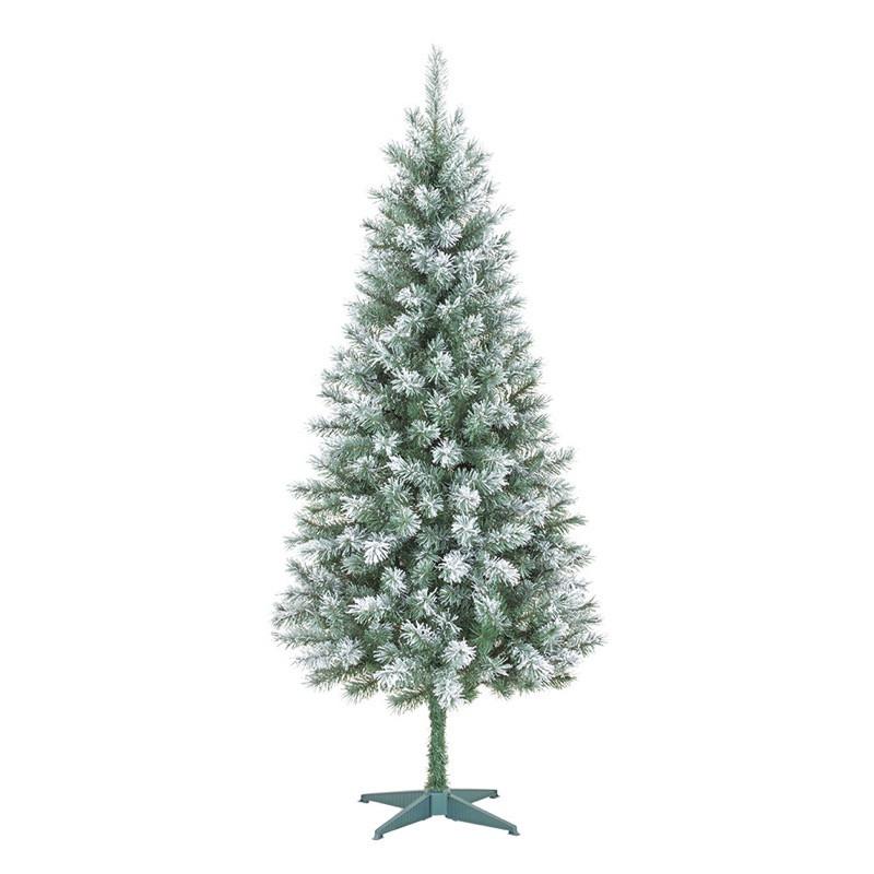 クリスマスツリー 180cmスノウィースリムツリー フロック(FOLD) [A-B]
