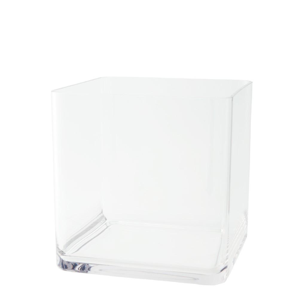ポリカーボネート 花器 花瓶 PVスクエアー 25×H25cm プラスチック 透明 割れにくい ガラスのような 安全 耐衝撃 丈夫