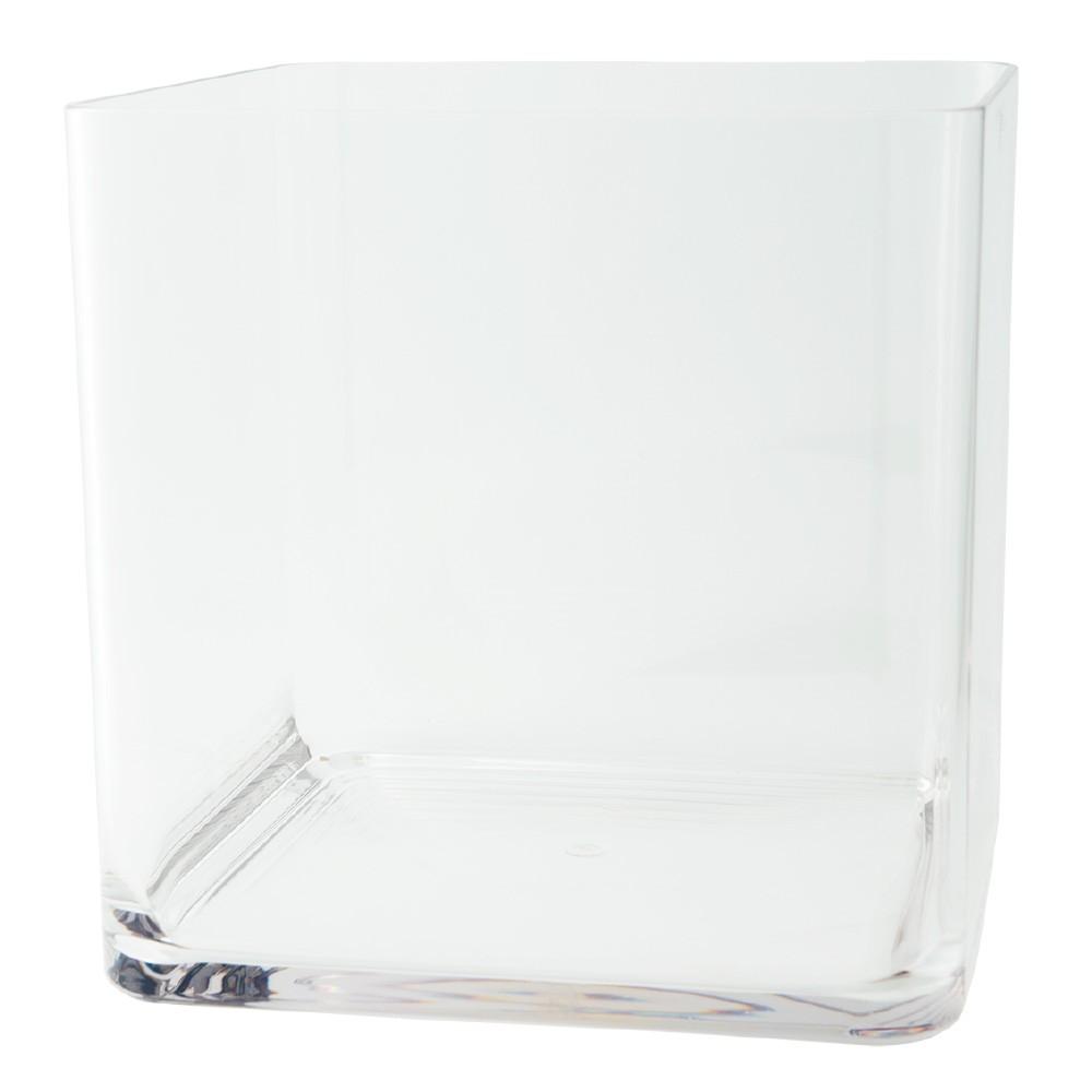 ポリカーボネート 花器 花瓶 PVスクエアー 30×H30cm プラスチック 透明 割れにくい ガラスのような 安全 耐衝撃 丈夫
