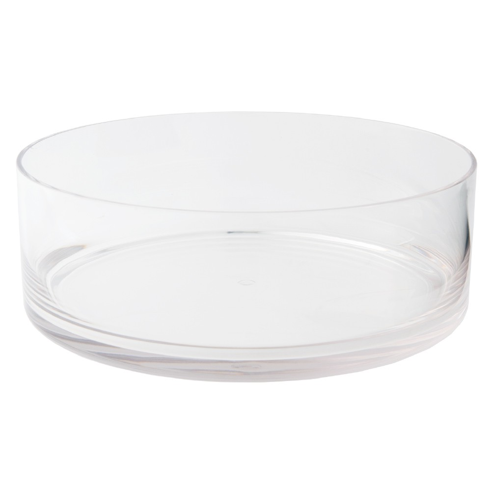 ポリカーボネート 花器 花瓶 PV円形浅型 φ35×H12cm プラスチック 透明 割れにくい ガラスのような 安全 耐衝撃 丈夫