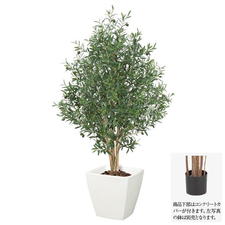 【観葉植物 造花】オリーブツリー M ナチュラルトランク 150cm 【人工観葉植物 大型 フェイクグリーン 光触媒 CT触媒 インテリア】[G-L]