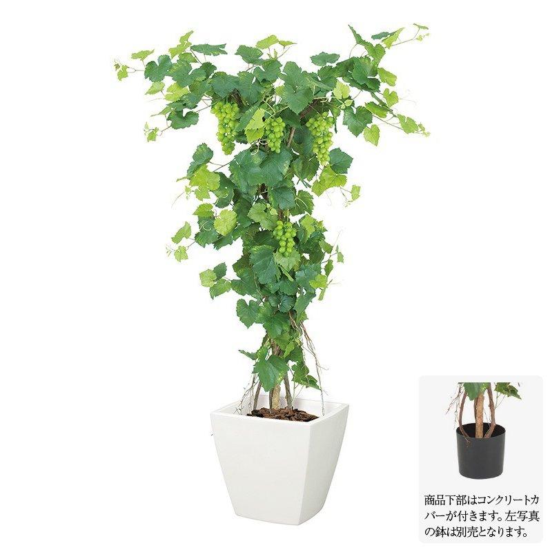 【フェイクグリーン】グレープツリー M ナチュラルトランク 150cm 【人工観葉植物 大型 観葉植物 造花 光触媒 CT触媒 インテリア】[G-L]