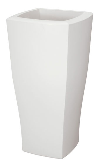 51cmクァドラムポット(ホワイト)【観葉植物 造花 フェイクグリーン 鉢 ポット】[G-L]
