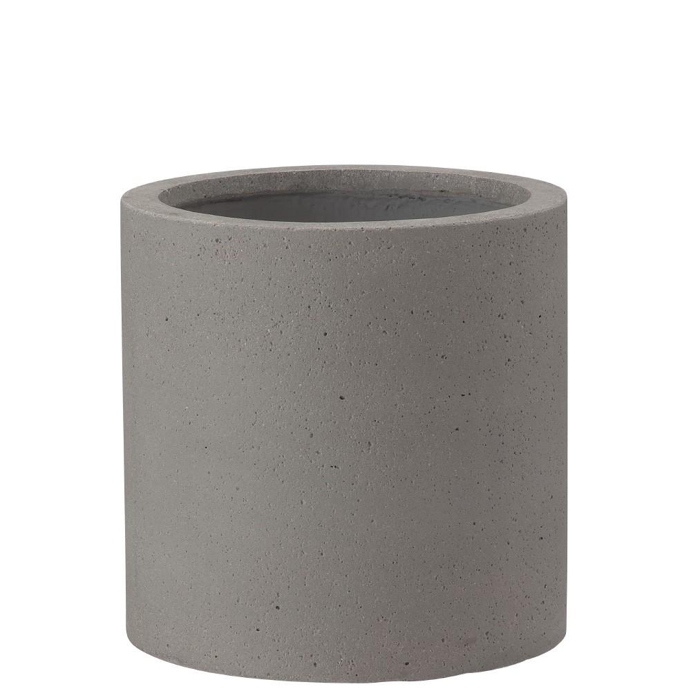 【樹木への取付費込】 コーディル シリンダー グレー 30cm 8.5号 コンクリート 丸鉢 植木鉢 ポット