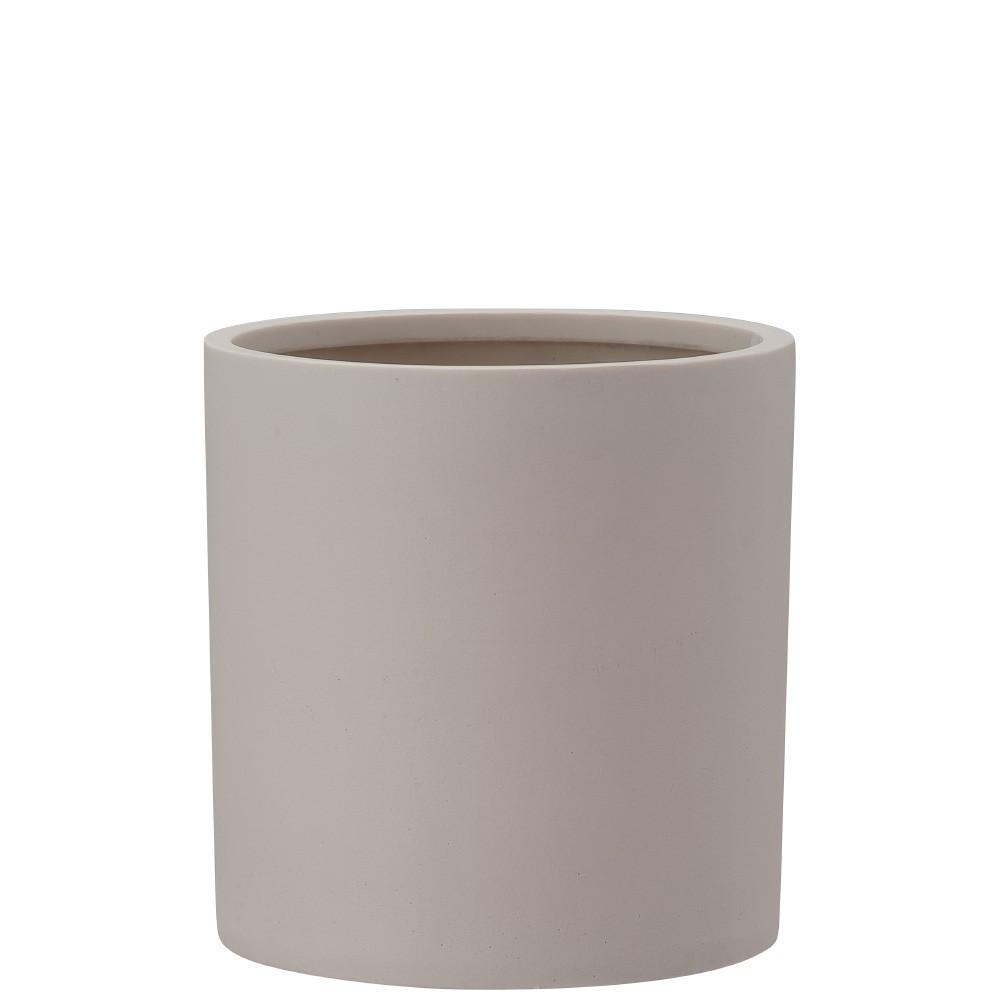 【樹木への取付費込】 ポリッシュ シリンダー クリーム 29cm 8.5号 ポリストーンライト 丸鉢 鉢カバー ポット シンプル 軽量
