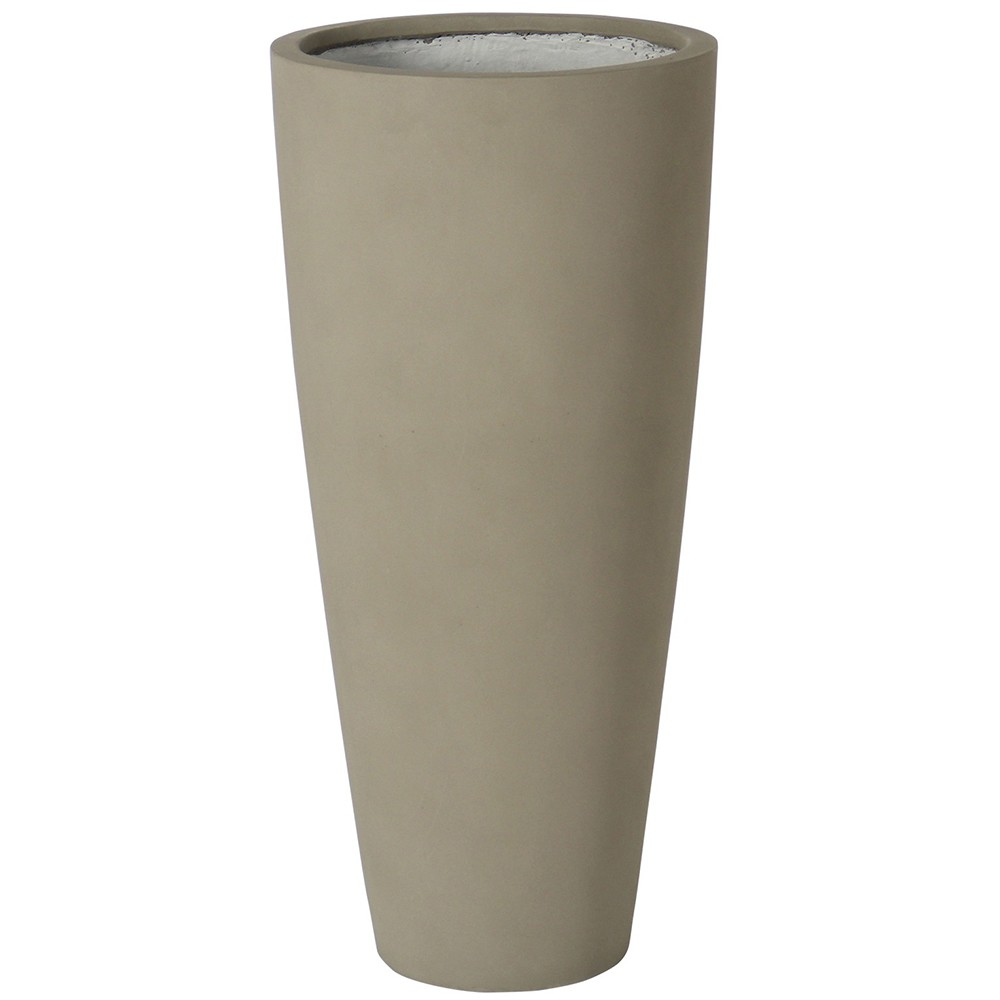 【樹木への取付費込】 スタウト トール マットセメント 37cm 10.5号 コンクリート 丸鉢 植木鉢 ポット