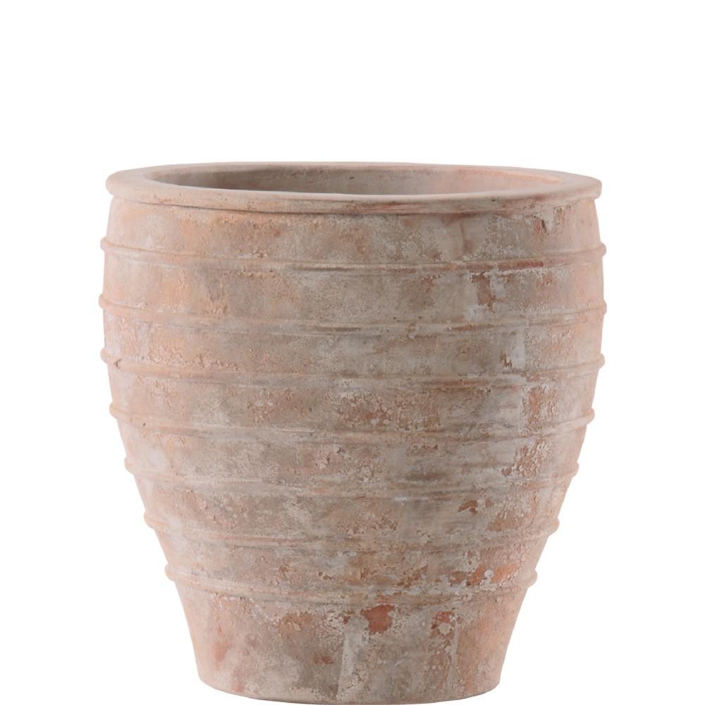 【樹木への取付費込】 メリッサ アンティコ 37cm 10号 テラコッタ 陶器 丸鉢 植木鉢 ポット