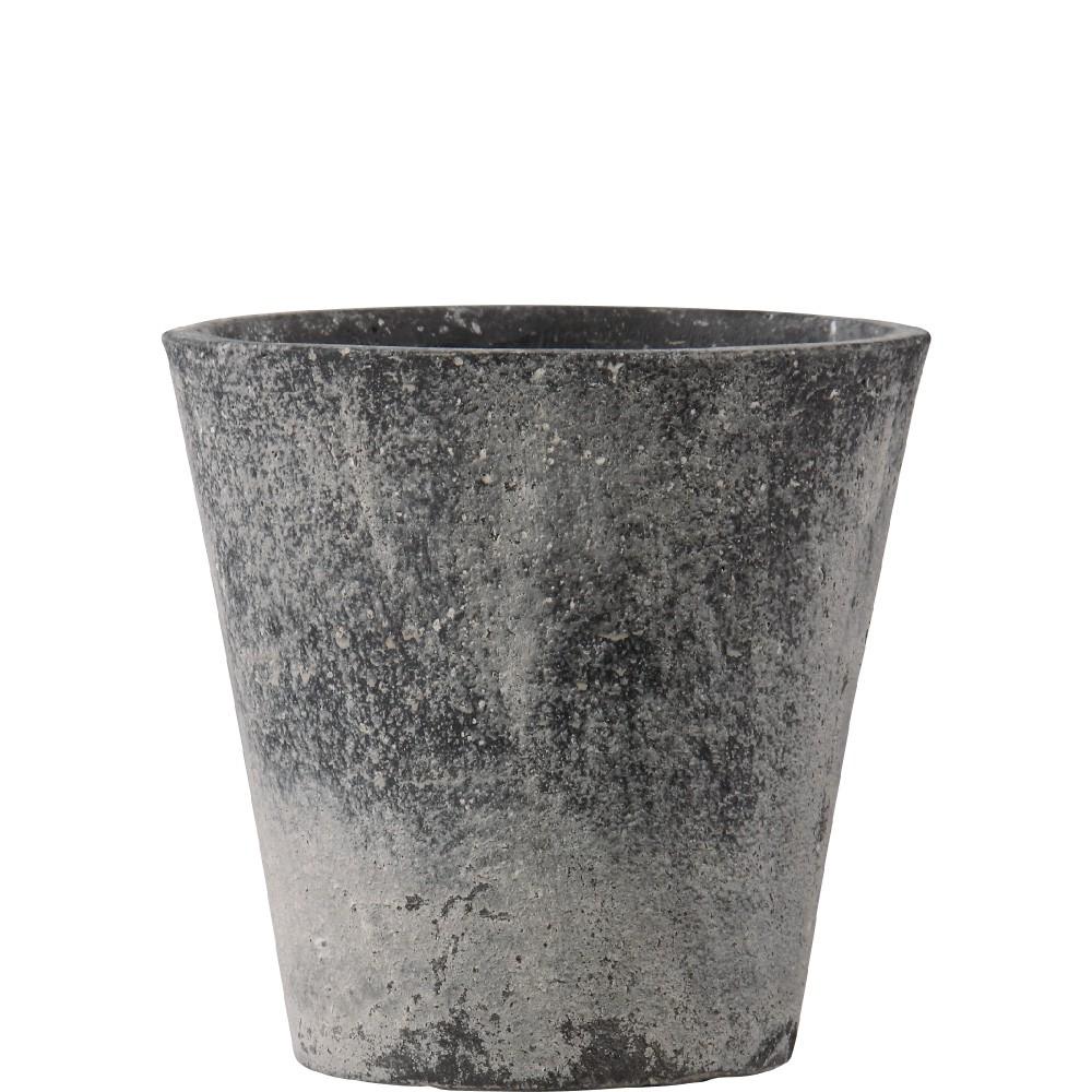 【樹木への取付費込】 フォリオ ソリッド ブラックウォシュ 31X29cm 9号 軽量コンクリート(多孔質ファイバーセメント) 丸鉢 植木鉢 ポット