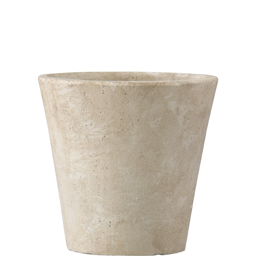 【樹木への取付費込】 フォリオ ソリッド クリーム 31X29cm 9号 軽量コンクリート(多孔質ファイバーセメント) 丸鉢 植木鉢 ポット