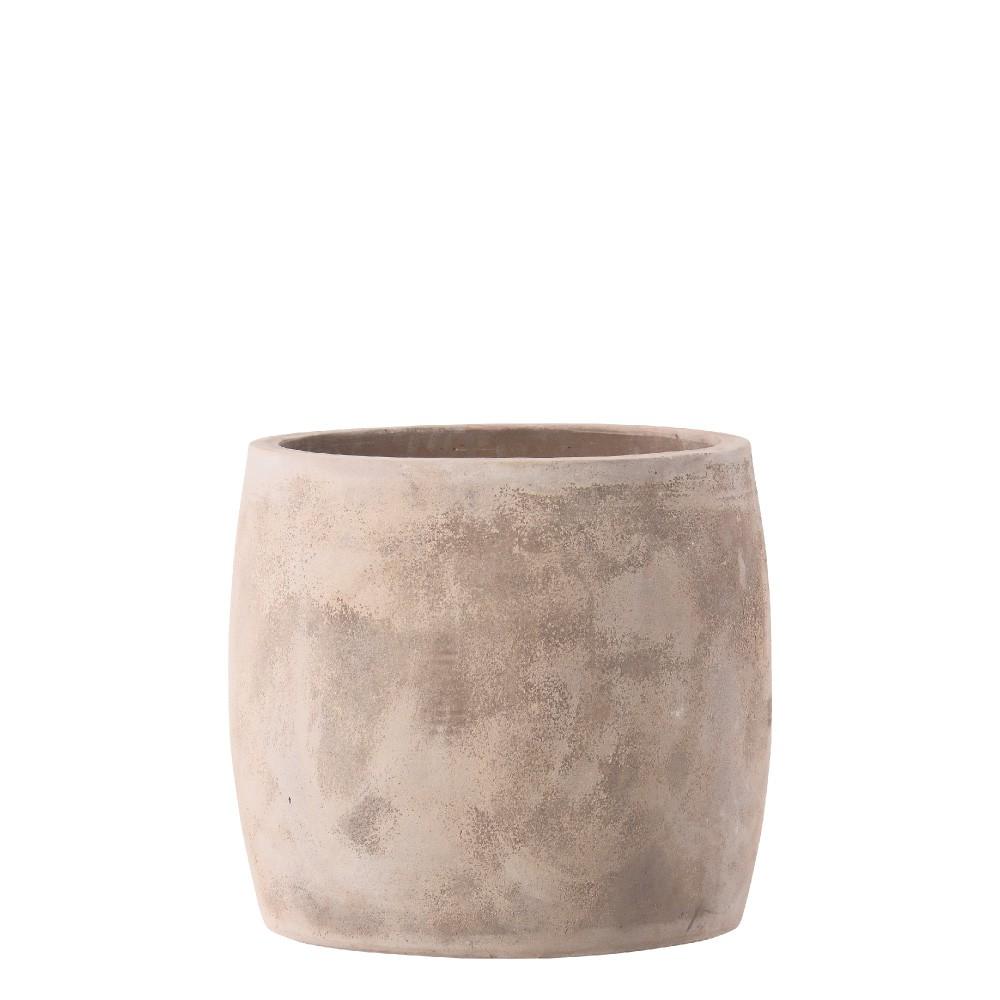 【樹木への取付費込】 ルーガ アンティコ ジャー 34cm 8.5号 テラコッタ 陶器 丸鉢 植木鉢 ポット