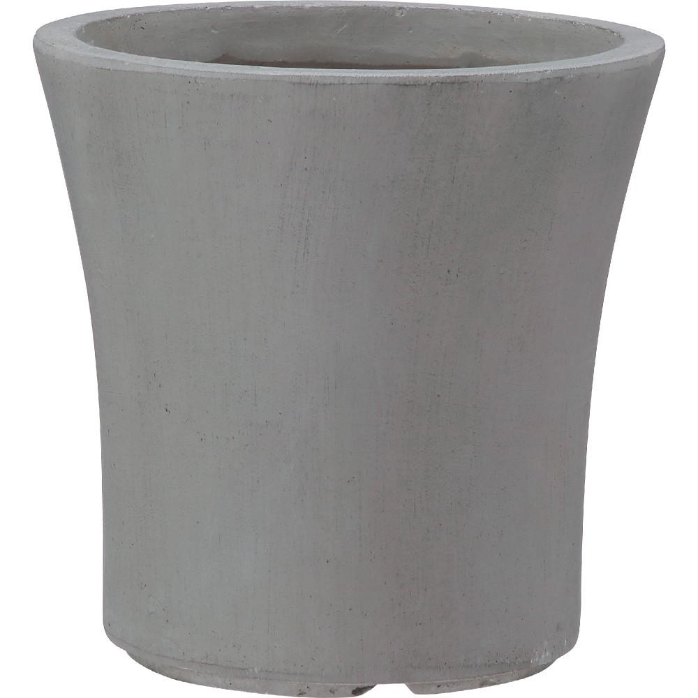 【樹木への取付費込】 クレイポット ラウンド グレー 36cm 11.5号 ファイバークレイ 丸鉢 植木鉢