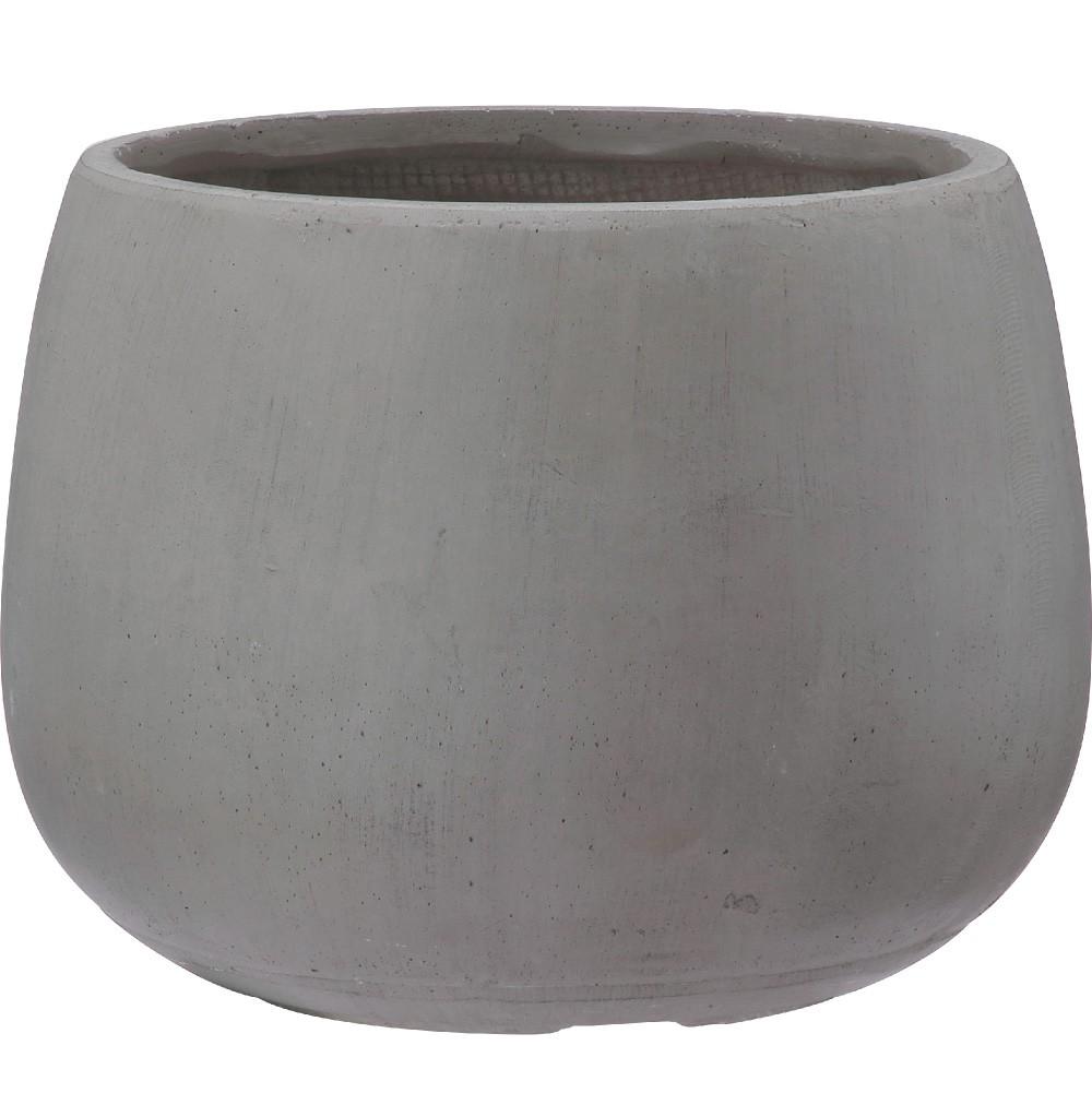 【樹木への取付費込】 クレイポット ボール グレー 35cm 9号 ファイバークレイ 丸鉢 植木鉢