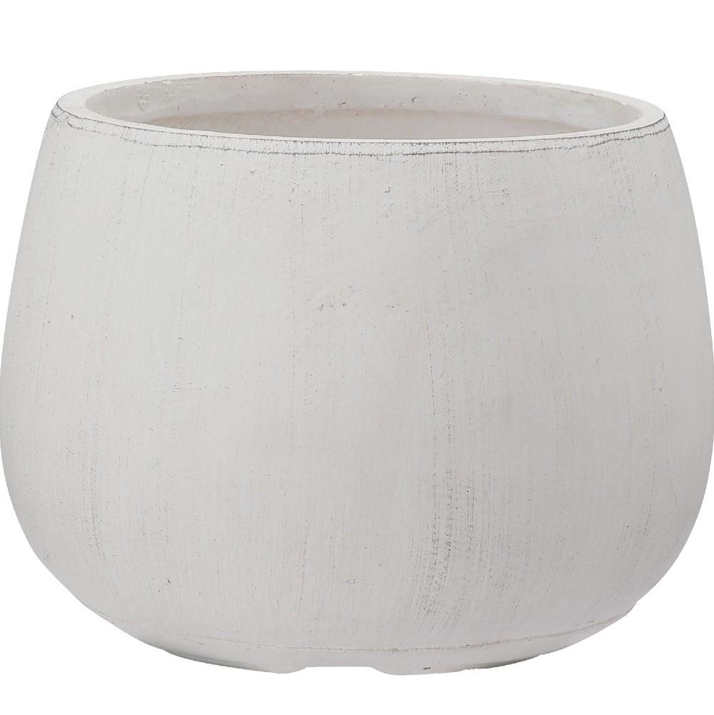 【樹木への取付費込】 クレイポット ボール ホワイト 35cm 9号 ファイバークレイ 丸鉢 植木鉢