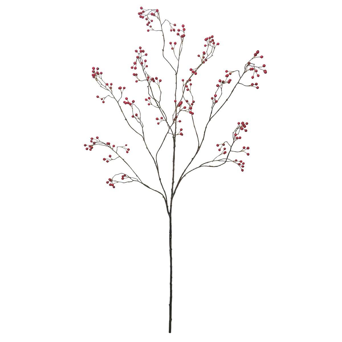 人工観葉植物 フェイクグリーン 観葉植物 造花 FIAN ベリーナチュラルブランチ レッド 135cm インテリア おしゃれ フェイク グリーン CT触媒 消臭