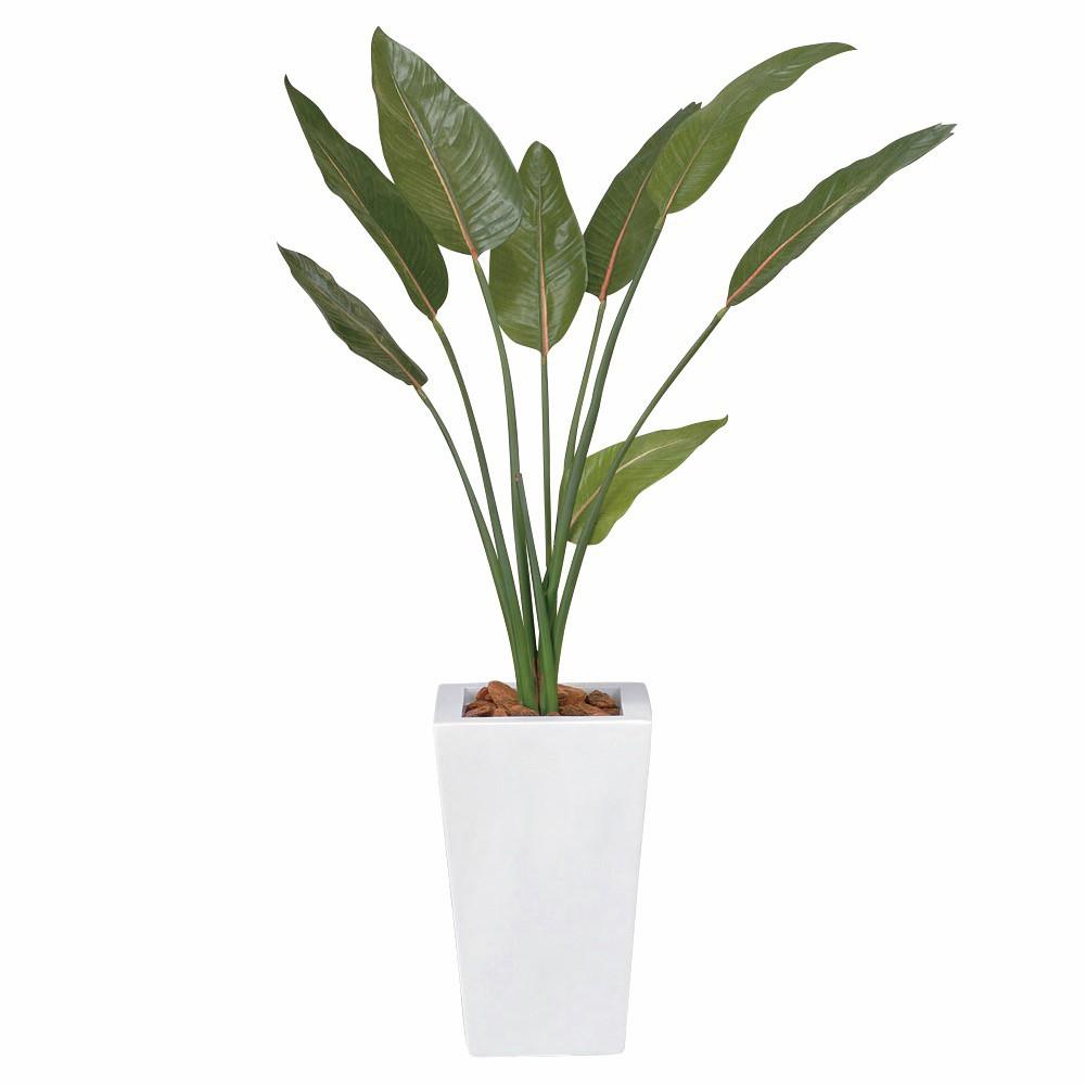 人工観葉植物 フェイクグリーン 観葉植物 造花 ストレチア 120cm 鉢植 光触媒 インテリア おしゃれ フェイク グリーン