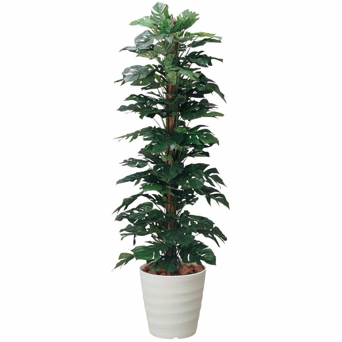 人工観葉植物 フェイクグリーン 観葉植物 造花 スプリットフィロ 180cm 鉢植 光触媒 インテリア おしゃれ フェイク グリーン
