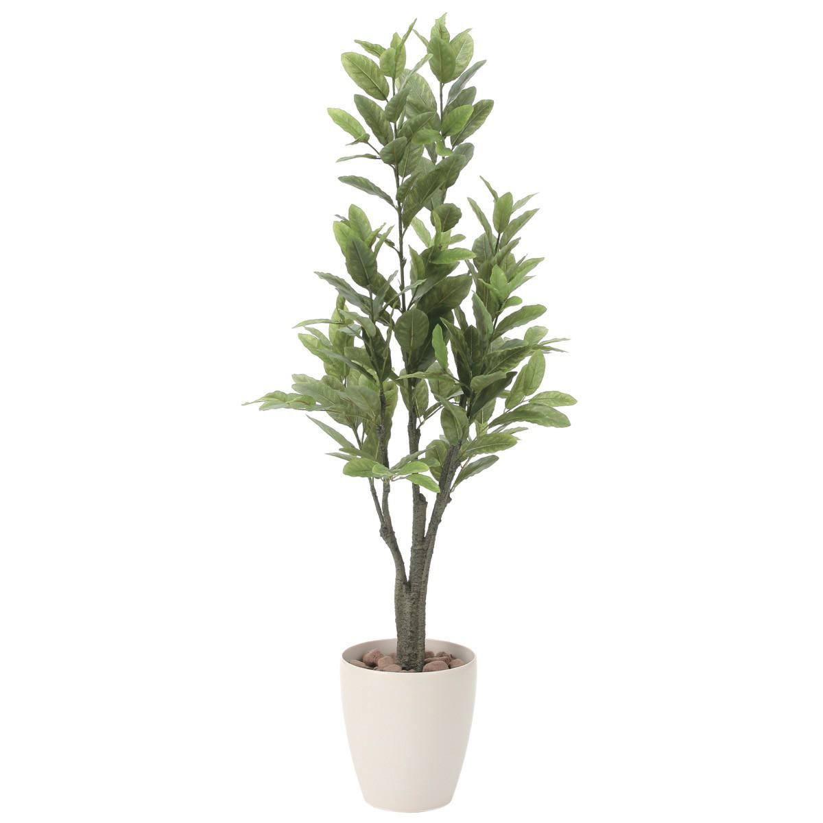 人工観葉植物 フェイクグリーン 観葉植物 造花 レモン 125cm 鉢植 光触媒 インテリア おしゃれ フェイク グリーン