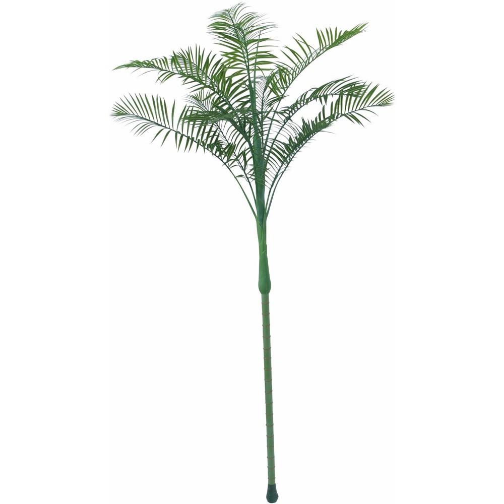 【観葉植物 造花 大型】屋外対応 フェザーパーム 210cm 樹木 【人工観葉植物 フェイクグリーン 光触媒 CT触媒 インテリア】