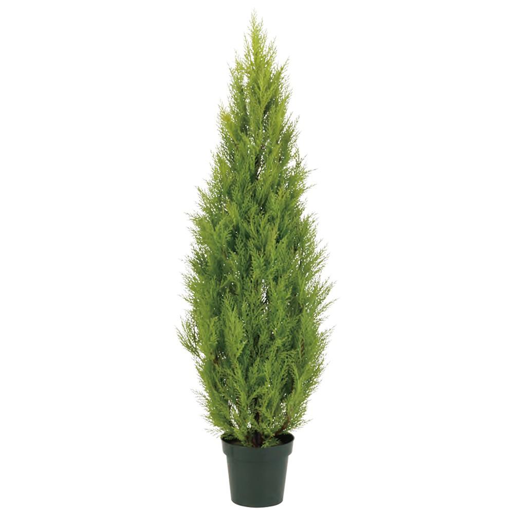 【観葉植物 造花】屋外対応 ゴールドクレスト 120cm 樹木 【人工観葉植物 フェイクグリーン 大型 光触媒 CT触媒 インテリア】