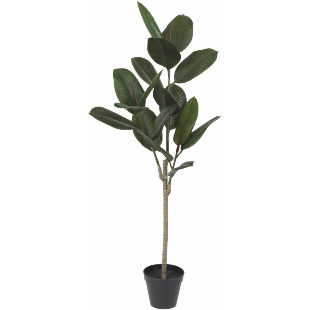 【観葉植物 造花】屋外対応 ラバー 120cm 樹木 【フェイクグリーン 大型 人工観葉植物 光触媒 CT触媒 インテリア】