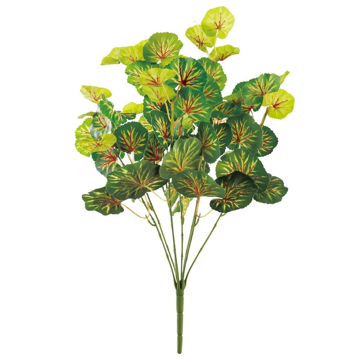 人工観葉植物 フェイクグリーン 人気 おすすめ 観葉植物 造花 光触媒 インテリア おしゃれ フェイク ゼラニウム 抗菌 6個から注文可能 消臭 50cm CT触媒 グリーン 品質検査済