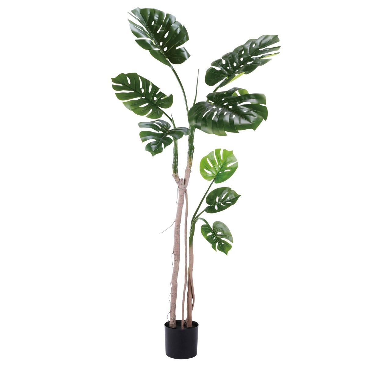 人工観葉植物 フェイクグリーン 観葉植物 造花 大型 モンスララ 小 170cm インテリア おしゃれ フェイク グリーン CT触媒 消臭 抗菌 お祝い
