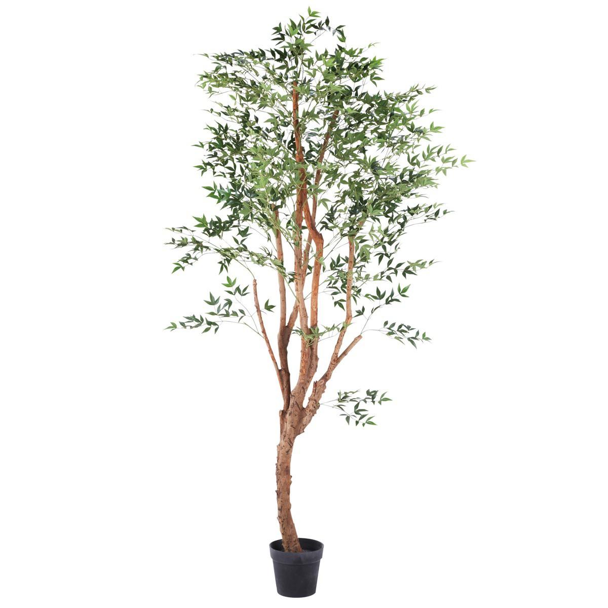 人工観葉植物 フェイクグリーン 観葉植物 造花 大型 グリーンリーフ 200cm インテリア おしゃれ フェイク グリーン CT触媒 消臭 抗菌 お祝い