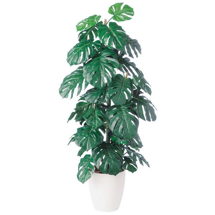 【人工観葉植物】 モンステラ 140cm 鉢植 【観葉植物 造花 フェイクグリーン 大型 光触媒 CT触媒 インテリア】