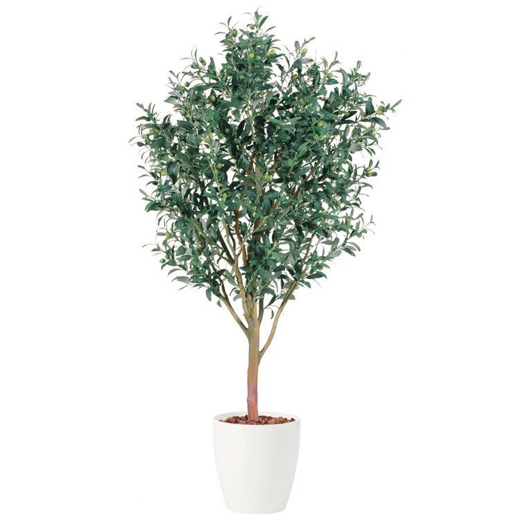 【フェイクグリーン 大型】 ライプオリーブ 180cm 鉢植 【人工観葉植物 観葉植物 造花 光触媒 CT触媒 インテリア】