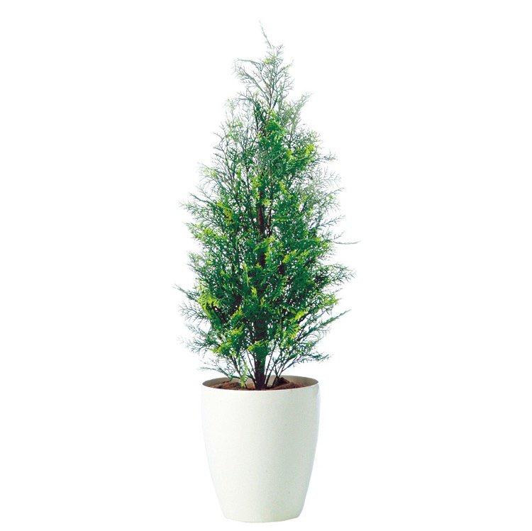 【人工観葉植物】 ヒバ 90cm 鉢植 【観葉植物 造花 大型 フェイクグリーン 光触媒 CT触媒 インテリア】