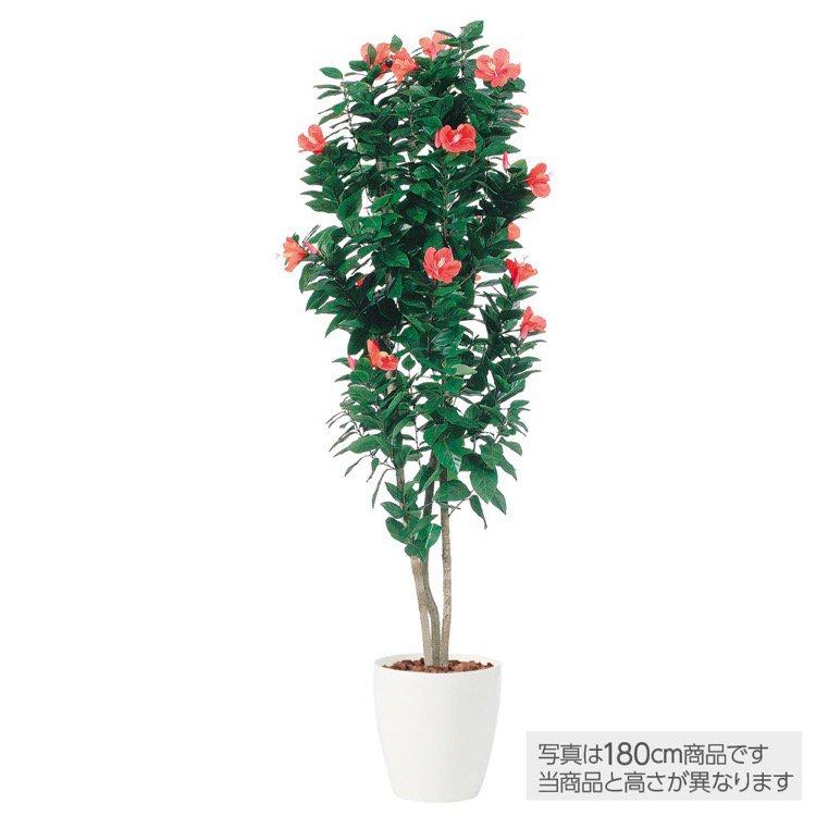 【フェイクグリーン 大型】 ハイビスカストリプル 200cm 鉢植 【人工観葉植物 観葉植物 造花 光触媒 CT触媒 インテリア】