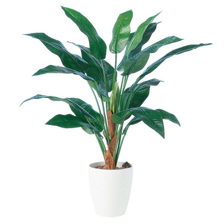 【観葉植物 造花】 ストレリチア15 (ストレチア) 100cm 鉢植 【人工観葉植物 大型 フェイクグリーン 光触媒 CT触媒 インテリア】