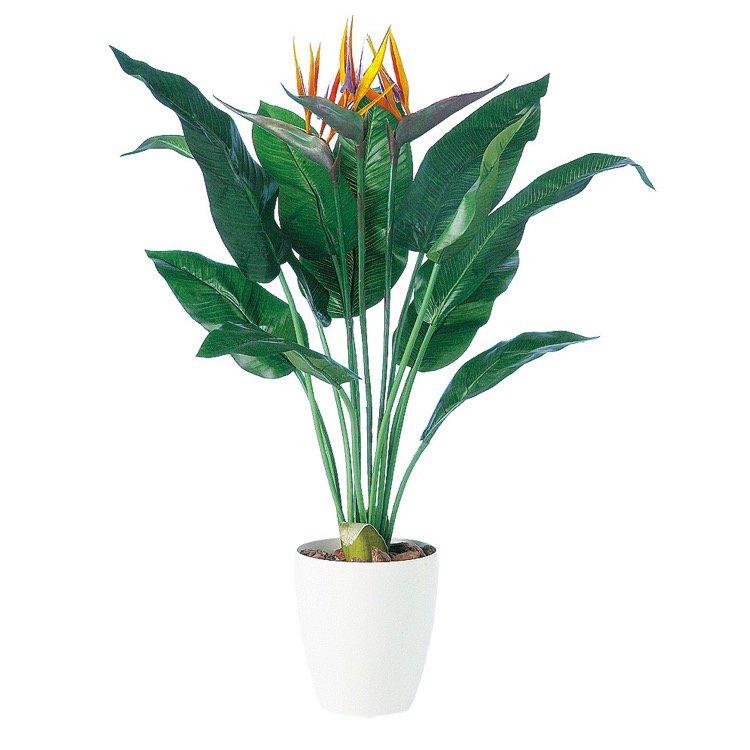 【フェイクグリーン】 ストレリチア11 (ストレチア) 100cm 鉢植 【観葉植物 造花 大型 人工観葉植物 光触媒 CT触媒 インテリア】