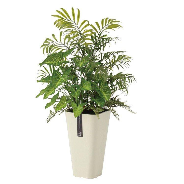 【観葉植物 造花】 テーブルヤシ アレンジ (パーム) 65cm 【フェイクグリーン 人工観葉植物 光触媒 CT触媒 インテリア】