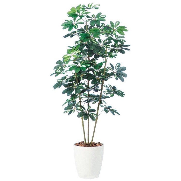 【人工観葉植物】 シェフレラ (カポック) 150cm 鉢植 【観葉植物 造花 大型 フェイクグリーン 光触媒 CT触媒 インテリア】