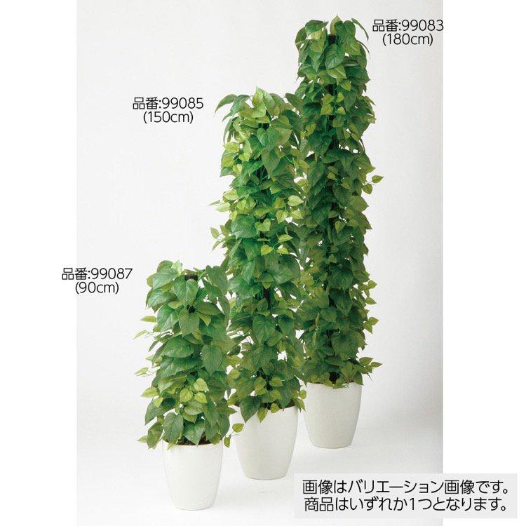 【フェイクグリーン 大型】 ライムポトスヘゴ GREEN 180cm 鉢植 【観葉植物 造花 人工観葉植物 光触媒 CT触媒 インテリア】