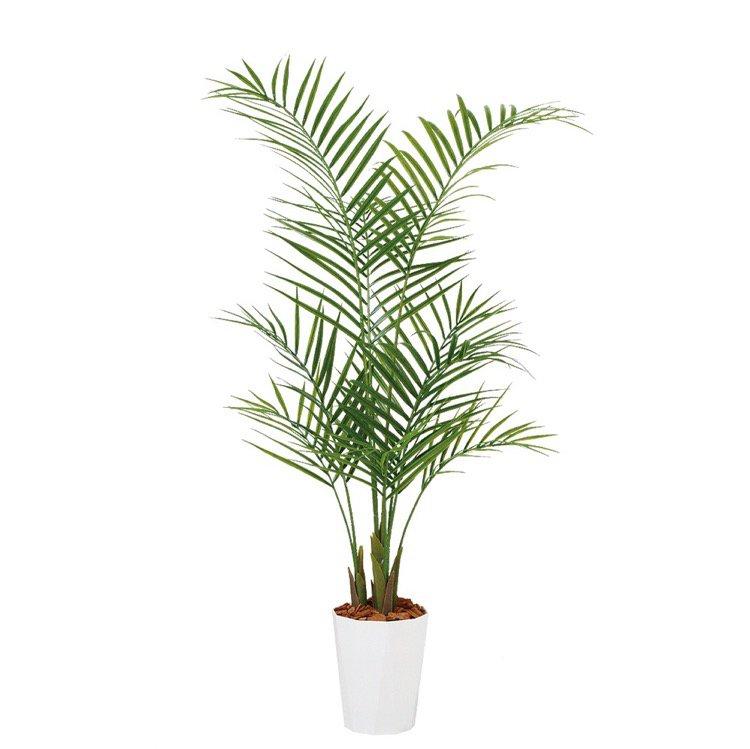 【人工観葉植物】 アレカヤシ PE (アレカパーム) 130cm 鉢植 【フェイクグリーン 大型 観葉植物 造花 光触媒 CT触媒 インテリア】
