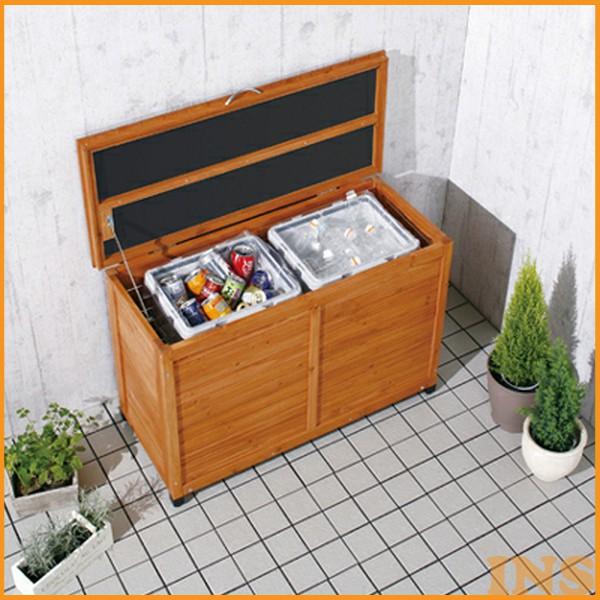 【送料無料】【屋外物置】木製ワイドストッカー WWS-970(収納・ガーデニング用品・掃除用品・ゴミ置き・ベランダ)