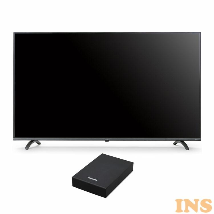 4Kテレビ 49型 音声操作 外付けHDDセット品 送料無料 テレビ HDD セット TV 4K 音声操作 49型 外付け ハードディスク アイリスオーヤマ[03ss]