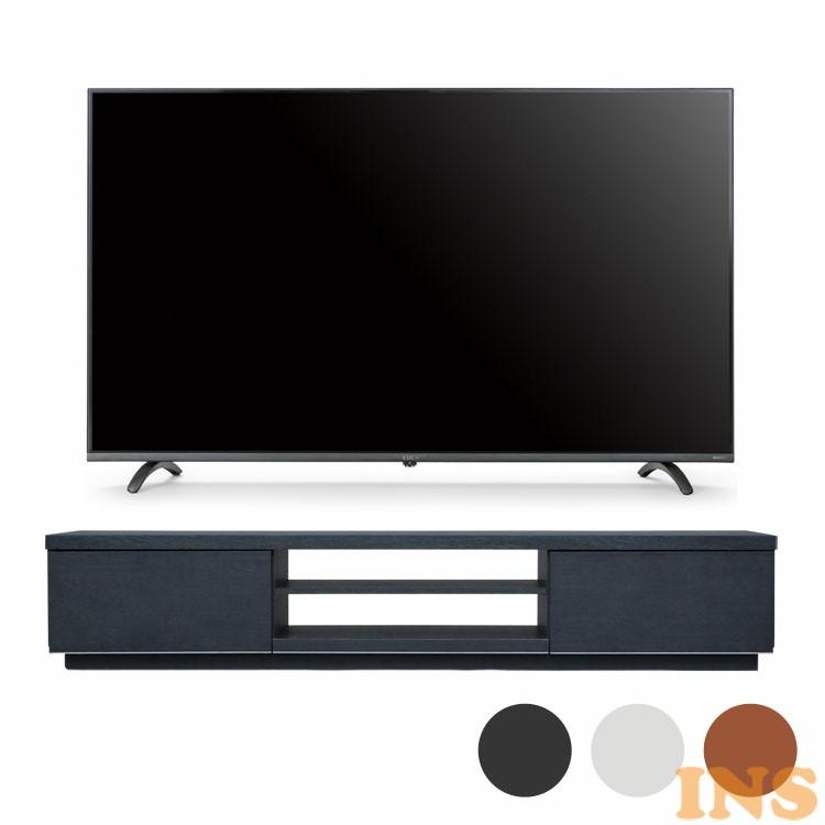 4Kテレビ 49型 音声操作 テレビ台BAB150 送料無料 テレビ テレビ台 セット TV 4K 音声操作 49型 黒 引き出し アイリスオーヤマ