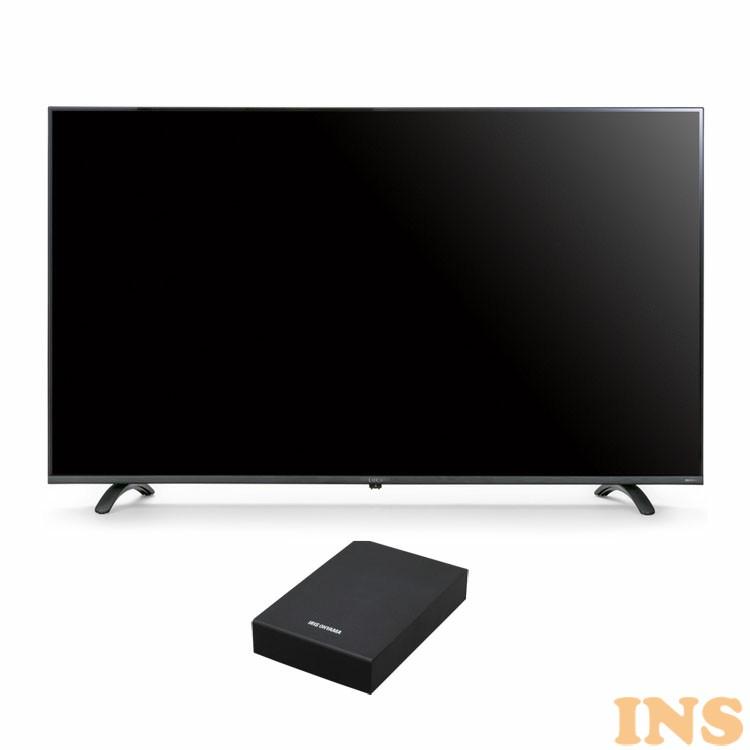 テレビ HDD セット TV 4K 音声操作 55型 外付け ハードディスク アイリスオーヤマ 4Kテレビ 55型 音声操作 外付けHDDセット品 送料無料 テレビ HDD セット TV 4K 音声操作 55型 外付け ハードディスク アイリスオーヤマ