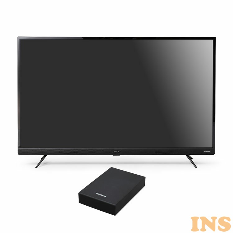 4Kテレビ フロントスピーカー 43型 外付けHDDセット品 送料無料 テレビ HDD セット TV 4K フロントスピーカー 43型 外付け ハードディスク アイリスオーヤマ[03ss]