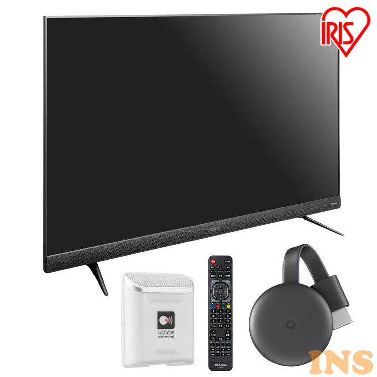 Google Chromecast クロームキャストセット 音声操作 4K対応液晶テレビ 55インチ LUCA 55UB28VC 送料無料 Google Chromecast クロームキャスト グーグル セット テレビ TV TVセット 液晶テレビ アイリスオーヤマ