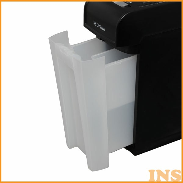 シュレッダー アイリスオーヤマ 細密シュレッダー P6HMCS ホワイト・ブラック あす楽対応
