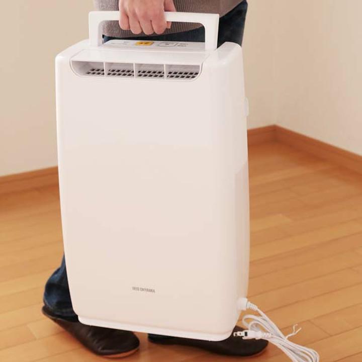 除湿機 静音 衣類乾燥除湿機 アイリスオーヤマ DDA-20 ≪≫コンパクト 除湿 衣類 部屋干し ハンドル付き 湿気対策 カビ対策