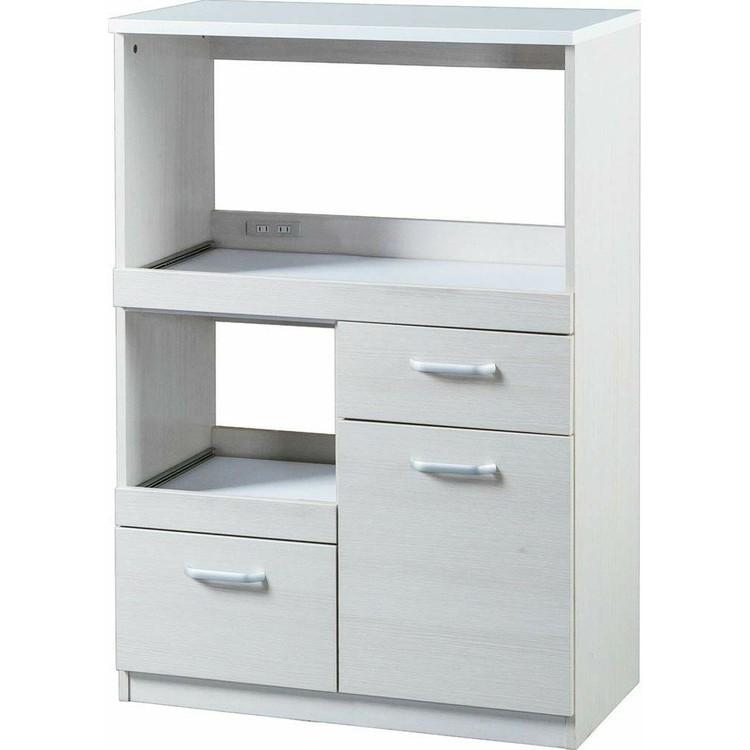 レンジ台 キッチン 収納 レンジボード LBD-1280 オフホワイト・ウォールナット 送料無料 レンジチェスト 食器棚 キッチン家具 台所 アイリスオーヤマ おしゃれ あす楽対応