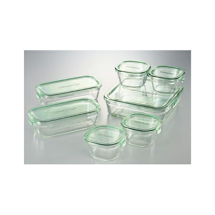 iwaki 大幅にプライスダウン ガラス製 保存容器 7点セット PSC-PRN-G7 送料無料 イワキ ふた 返品交換不可 ガラス パック レンジ オーブン 整頓 作り置き 整理 ストック シンプル おしゃれ 保存 食品 耐熱ガラス 清潔 つくおき セット