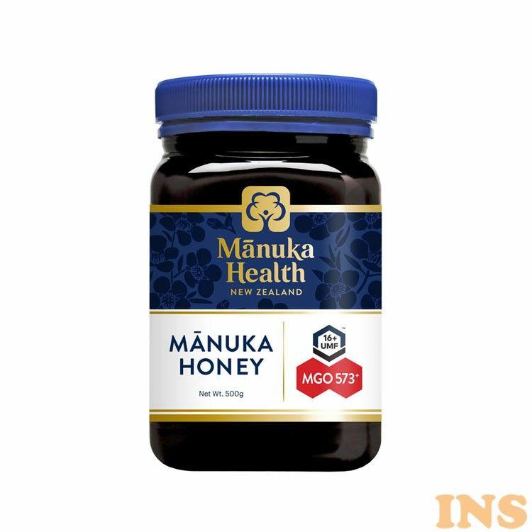 はちみつ マヌカ 専門店 manuka 正規輸入 富永貿易 奉呈 のど 抗菌作用 ウイルス 蜂蜜 ハチミツ MANUKA HEALTH ZEALAND NEW MGO573 UMF16 ニュージーランド産 正規品 マヌカハニー マヌカヘルス D 送料無料 500g