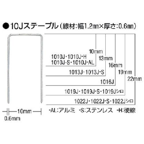 釘打機 MAX ステープル クリアランスsale 期間限定 肩幅10mm 5000本入り 長さ19mm 現金特価 1019J