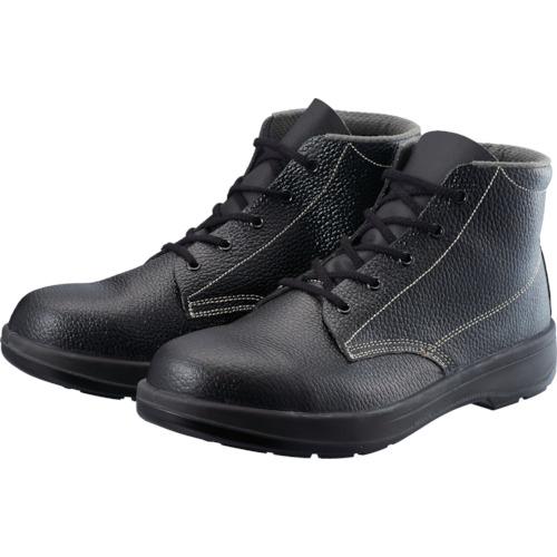 シモン 2層ウレタン底安全編上靴 26.5cm ブラック AW22BK26.5
